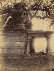 Side view of temple with pyramidal roof, Balod, Raipur District